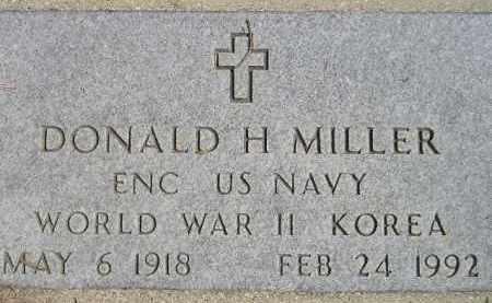 MILLER, DONALD H. - Codington County, South Dakota | DONALD H. MILLER - South Dakota Gravestone Photos