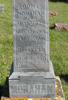 MILNER MONAHAN, MARY M. - Codington County, South Dakota | MARY M. MILNER MONAHAN - South Dakota Gravestone Photos