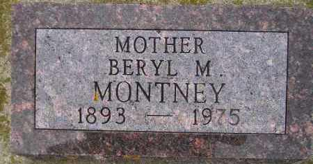MEREDITH MONTNEY, BERYL M. - Codington County, South Dakota | BERYL M. MEREDITH MONTNEY - South Dakota Gravestone Photos