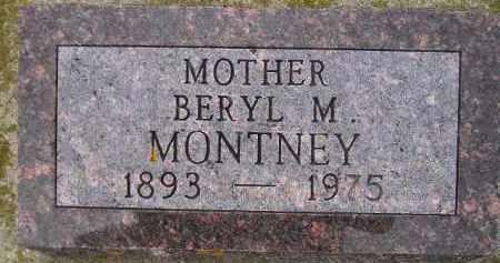 MEREDITH MONTNEY, BERYL M. - Codington County, South Dakota   BERYL M. MEREDITH MONTNEY - South Dakota Gravestone Photos