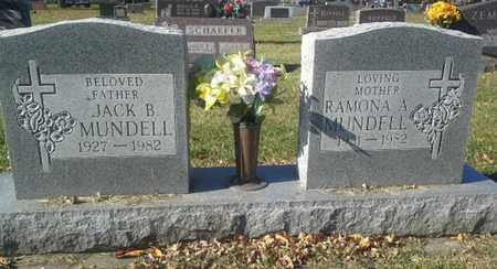 MUNDELL, JACK B - Codington County, South Dakota   JACK B MUNDELL - South Dakota Gravestone Photos