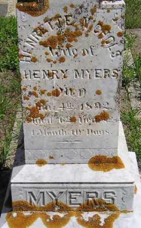 NICHOLS MYERS, HENRIETTE - Codington County, South Dakota | HENRIETTE NICHOLS MYERS - South Dakota Gravestone Photos