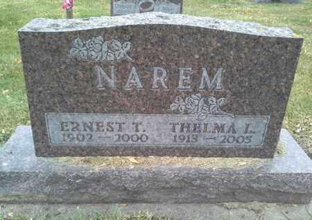 NAREM, ERNEST T - Codington County, South Dakota   ERNEST T NAREM - South Dakota Gravestone Photos