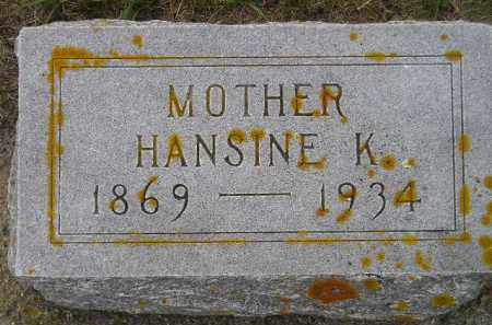 NELSON, HANSINE K. - Codington County, South Dakota | HANSINE K. NELSON - South Dakota Gravestone Photos