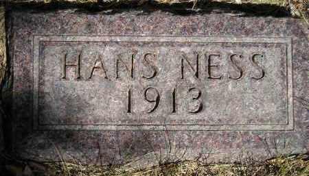 NESS, HANS - Codington County, South Dakota   HANS NESS - South Dakota Gravestone Photos