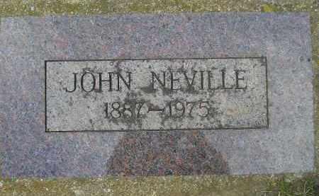 NEVILLE, JOHN - Codington County, South Dakota | JOHN NEVILLE - South Dakota Gravestone Photos