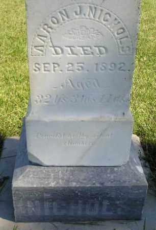 NICHOLS, AARON J. - Codington County, South Dakota   AARON J. NICHOLS - South Dakota Gravestone Photos