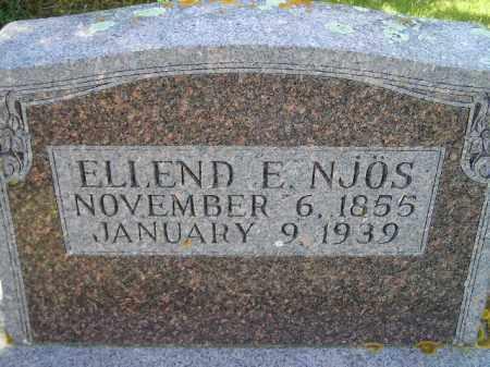NJOS, ELLEND E. - Codington County, South Dakota | ELLEND E. NJOS - South Dakota Gravestone Photos