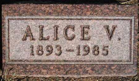 KINGSLIEN OLSON, ALICE VICTORIA - Codington County, South Dakota | ALICE VICTORIA KINGSLIEN OLSON - South Dakota Gravestone Photos