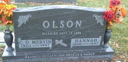 OLSON, C D MERVIN - Codington County, South Dakota | C D MERVIN OLSON - South Dakota Gravestone Photos