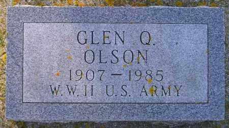 OLSON, GLEN Q. - Codington County, South Dakota | GLEN Q. OLSON - South Dakota Gravestone Photos