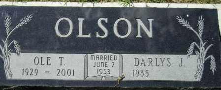 BURY OLSON, DARLYS J. - Codington County, South Dakota   DARLYS J. BURY OLSON - South Dakota Gravestone Photos