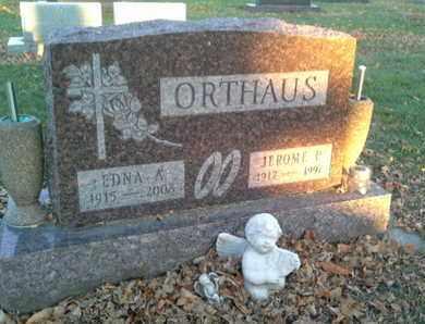 ORTHAUS, EDNA A - Codington County, South Dakota | EDNA A ORTHAUS - South Dakota Gravestone Photos