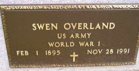 OVERLAND, SWEN (WW I) - Codington County, South Dakota | SWEN (WW I) OVERLAND - South Dakota Gravestone Photos