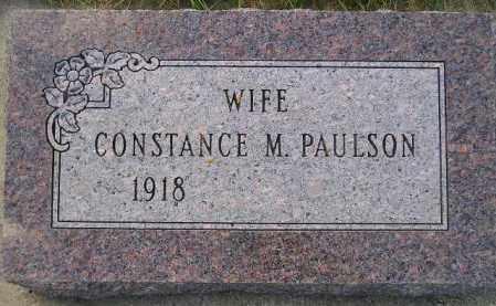 PAULSON, CONSTANCE M. - Codington County, South Dakota | CONSTANCE M. PAULSON - South Dakota Gravestone Photos