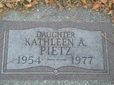PIETZ, KATHLEEN A - Codington County, South Dakota | KATHLEEN A PIETZ - South Dakota Gravestone Photos