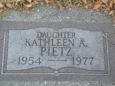 PIETZ, KATHLEEN A - Codington County, South Dakota   KATHLEEN A PIETZ - South Dakota Gravestone Photos