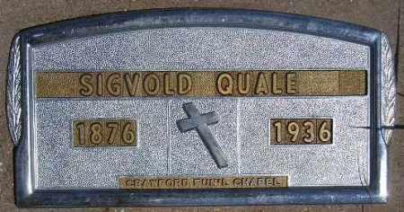 QUALE, SIGVOLD - Codington County, South Dakota   SIGVOLD QUALE - South Dakota Gravestone Photos
