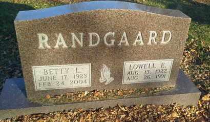 RANDGAARD, LOWELL E - Codington County, South Dakota   LOWELL E RANDGAARD - South Dakota Gravestone Photos