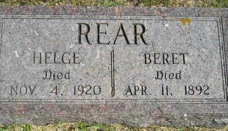 SOLSAA REAR, BERET - Codington County, South Dakota | BERET SOLSAA REAR - South Dakota Gravestone Photos