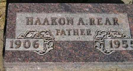 REAR, HAAKON A. - Codington County, South Dakota   HAAKON A. REAR - South Dakota Gravestone Photos