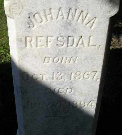 REFSDAL, JOHANNA - Codington County, South Dakota   JOHANNA REFSDAL - South Dakota Gravestone Photos