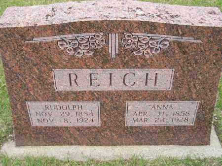 REICH, RUDOLPH - Codington County, South Dakota | RUDOLPH REICH - South Dakota Gravestone Photos