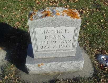RESEN, HATTIE E - Codington County, South Dakota   HATTIE E RESEN - South Dakota Gravestone Photos