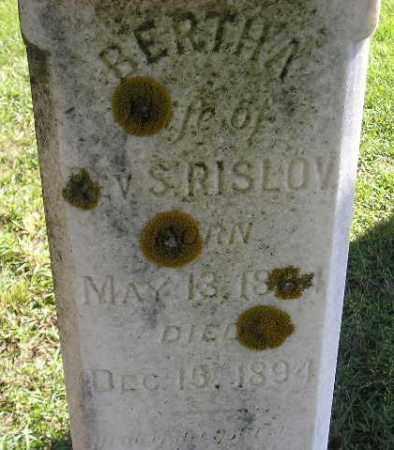 RISLOV, BERTHA - Codington County, South Dakota   BERTHA RISLOV - South Dakota Gravestone Photos
