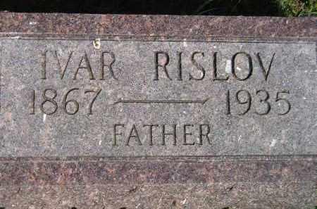 RISLOV, IVAR - Codington County, South Dakota   IVAR RISLOV - South Dakota Gravestone Photos