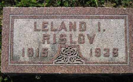 RISLOV, LELAND I. - Codington County, South Dakota | LELAND I. RISLOV - South Dakota Gravestone Photos