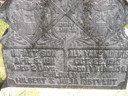 RISTVEDT, INFANT SON - Codington County, South Dakota   INFANT SON RISTVEDT - South Dakota Gravestone Photos
