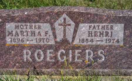 VERVYNCK ROEGIERS, MARTHA FRANCES - Codington County, South Dakota | MARTHA FRANCES VERVYNCK ROEGIERS - South Dakota Gravestone Photos