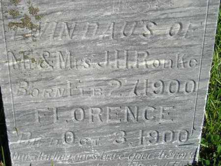 RONKE, FLORENCE - Codington County, South Dakota | FLORENCE RONKE - South Dakota Gravestone Photos