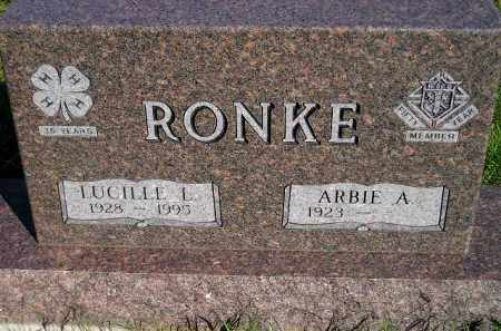 RONKE, ARBIE A. - Codington County, South Dakota | ARBIE A. RONKE - South Dakota Gravestone Photos