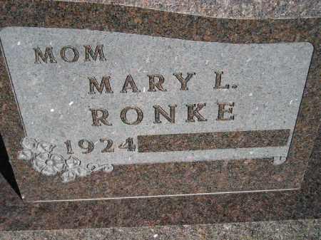 RONKE, MARY L. - Codington County, South Dakota | MARY L. RONKE - South Dakota Gravestone Photos