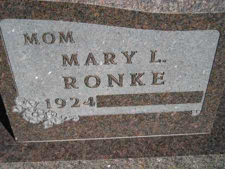 RONKE, MARY L. - Codington County, South Dakota | MARY L. RONKE - South Dakota Gravestone Photos