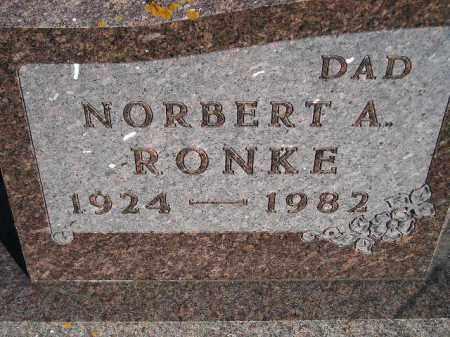 RONKE, NORBERT A. - Codington County, South Dakota   NORBERT A. RONKE - South Dakota Gravestone Photos