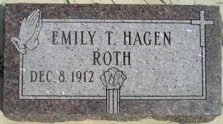HAGEN ROTH, EMILY T. - Codington County, South Dakota | EMILY T. HAGEN ROTH - South Dakota Gravestone Photos