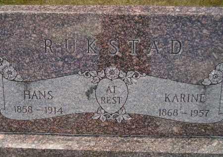 RUKSTAD, HANS - Codington County, South Dakota | HANS RUKSTAD - South Dakota Gravestone Photos