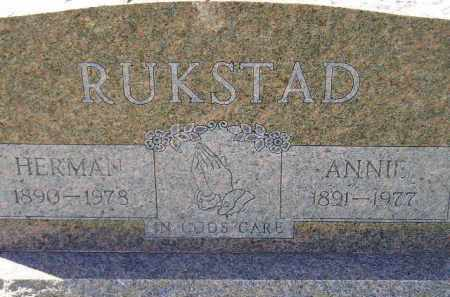STENSTADVOLD RUKSTAD, ANNIE - Codington County, South Dakota | ANNIE STENSTADVOLD RUKSTAD - South Dakota Gravestone Photos
