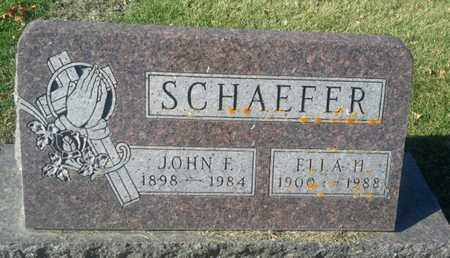 SCHAEFER, ELLA H - Codington County, South Dakota | ELLA H SCHAEFER - South Dakota Gravestone Photos