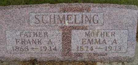 SCHMELING, FRANK A. - Codington County, South Dakota | FRANK A. SCHMELING - South Dakota Gravestone Photos
