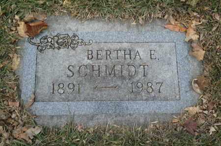 SCHMIDT, BERTHA E - Codington County, South Dakota | BERTHA E SCHMIDT - South Dakota Gravestone Photos