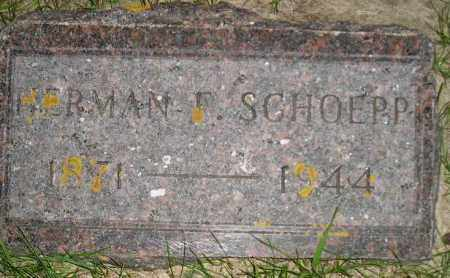 SCHOEPP, HERMAN F. - Codington County, South Dakota | HERMAN F. SCHOEPP - South Dakota Gravestone Photos