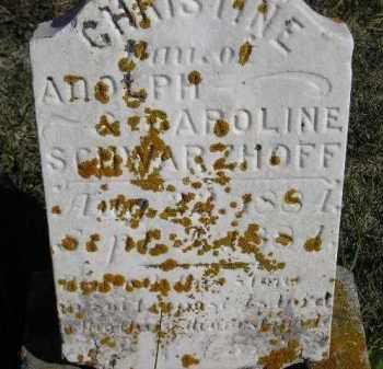SCHWARZHOFF, CHRISTINE - Codington County, South Dakota   CHRISTINE SCHWARZHOFF - South Dakota Gravestone Photos