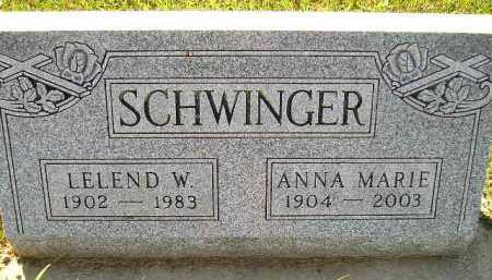 HOLTAN SCHWINGER, ANNA MARIE - Codington County, South Dakota | ANNA MARIE HOLTAN SCHWINGER - South Dakota Gravestone Photos