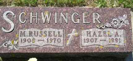 SCHWINGER, MARION RUSSELL - Codington County, South Dakota | MARION RUSSELL SCHWINGER - South Dakota Gravestone Photos