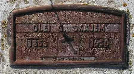 SKAJEM, OLEI G. - Codington County, South Dakota | OLEI G. SKAJEM - South Dakota Gravestone Photos