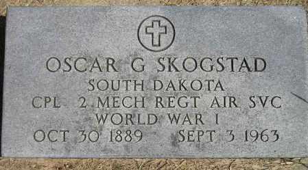 SKOGSTAD, OSCAR G. - Codington County, South Dakota | OSCAR G. SKOGSTAD - South Dakota Gravestone Photos